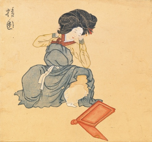 Fig. 2 - An 18th century Korean beauty. Attributed to Kim Hong-Do (A.D. 1745- ?) © Seoul National University Museum