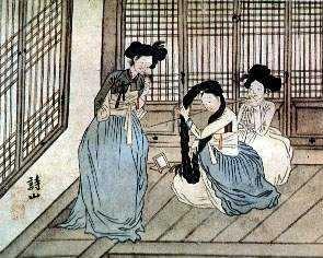 Kisaeng women, by Yu Un-hong (1797-1859)