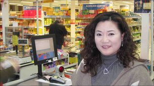 Ms Hong says British shoppers also come to the supermarket, with recipe books in hand