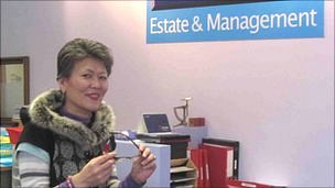 The straight-taking Mrs Hardy, owner of Jin's estate agents, says she is not a typical Korean